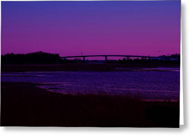 Township Greeting Cards - Sandy Hook Bridge at Sunset Greeting Card by Paul Ward