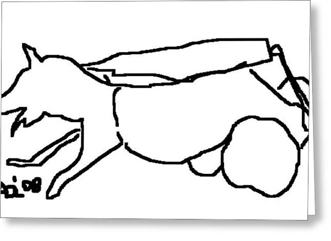 Disability Drawings Greeting Cards - Sandy in Wheelchair 1 Greeting Card by Anita Dale Livaditis