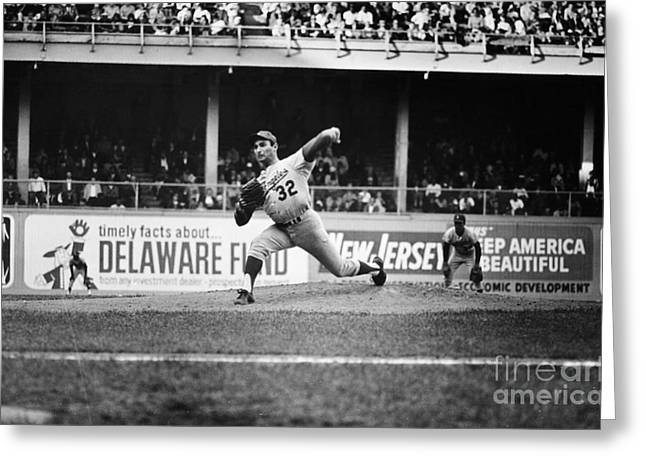 Billboard Greeting Cards - Sandy Koufax (1935- ) Greeting Card by Granger