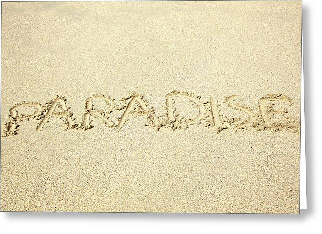 Sandy Paradise Greeting Card by Kicka Witte