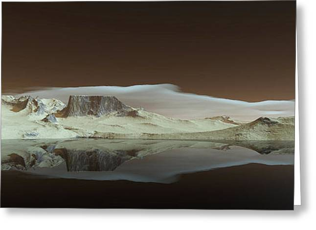 Terragen Digital Art Greeting Cards - Sandy Shores Greeting Card by Diane McCool-Babineau