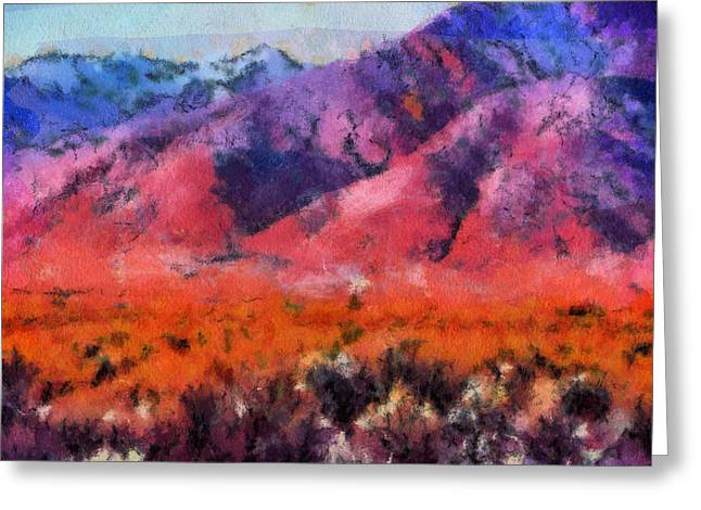 Sangre de Cristos -- Cezanne Greeting Card by Charles Muhle