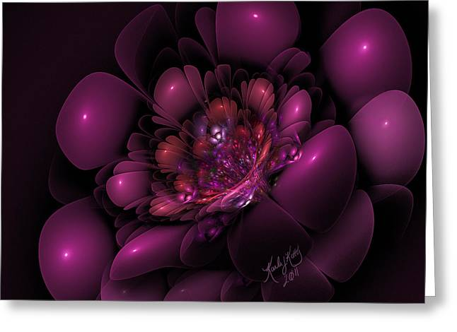 Karlajkitty Digital Art Greeting Cards - Sangria Greeting Card by Karla White