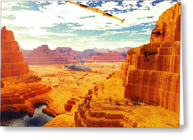 Terragen Greeting Cards - Sangry Valley Greeting Card by Napo Bonaparte