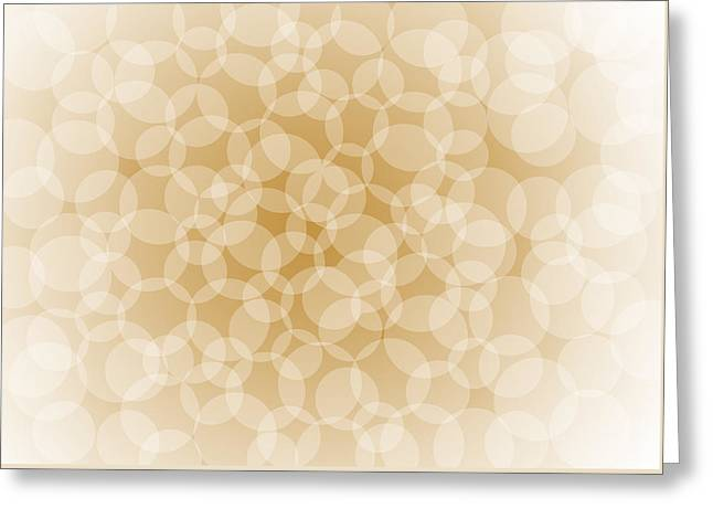 Irregular Greeting Cards - Sanguine Abstract Circles Greeting Card by Frank Tschakert