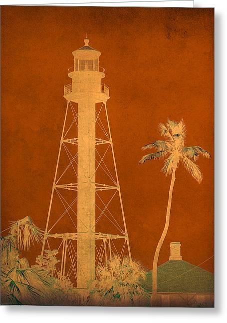 Sanibel Greeting Cards - Sanibel Island Lighthouse Greeting Card by Trish Tritz