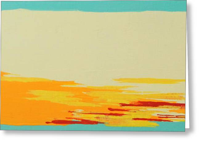 Red Abstracts Greeting Cards - Sanibel Sunset 1 Greeting Card by Kristen Ashton