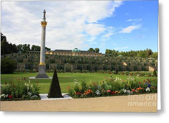 Summer Palace Greeting Cards - Sanssouci Garden Greeting Card by Carol Groenen