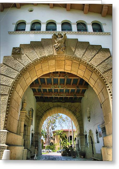 Entryway Greeting Cards - Santa Barbara County Courthouse IV Greeting Card by Steven Ainsworth
