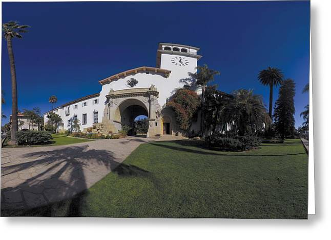 Courthouse Greeting Cards - Santa Barbara Court House Greeting Card by Brian Lockett