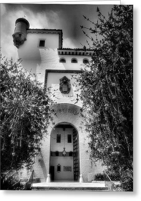 White Frame House Greeting Cards - Santa Barbara Courthouse I Greeting Card by Steven Ainsworth
