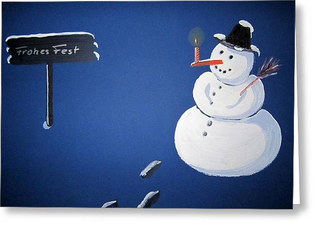 ...santa Claus Is Coming To Town... Greeting Card by Ingrid Stiehler