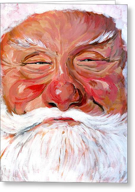 Royal Art Greeting Cards - Santa Claus Greeting Card by Tom Roderick