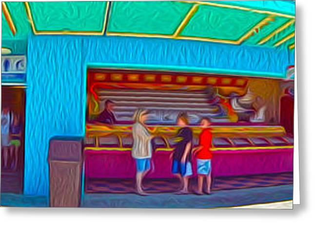 Santa Cruz Greeting Cards - Santa Cruz Boardwalk - Panorama - 02 Greeting Card by Gregory Dyer