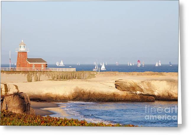 Santa Cruz Lighthouse Greeting Card by Paul Topp