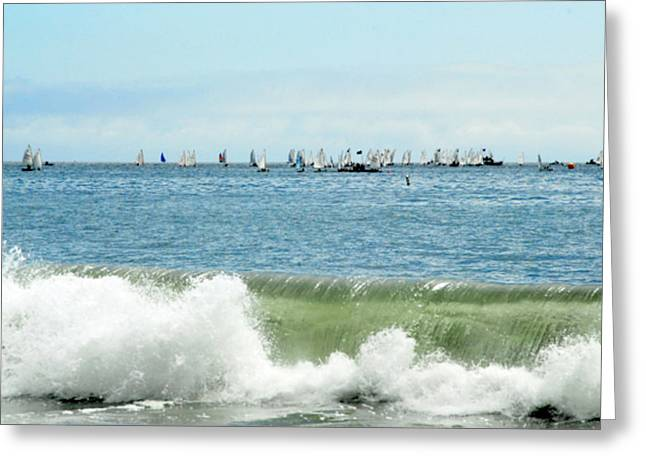 Santa Cruz Sailboat Greeting Cards - Santa Cruz Sailing Lane Greeting Card by Dawn Bonner