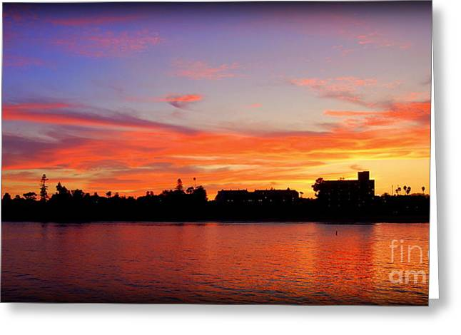 Santa Cruz Sunset 2 Greeting Card by Garnett  Jaeger