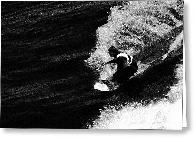Seacape Digital Art Greeting Cards - Santa Cruz Surfer Dude Greeting Card by Norman  Andrus