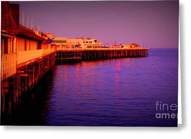 Best Sellers -  - Santa Cruz Wharf Greeting Cards - Santa Cruz Wharf Greeting Card by Garnett  Jaeger
