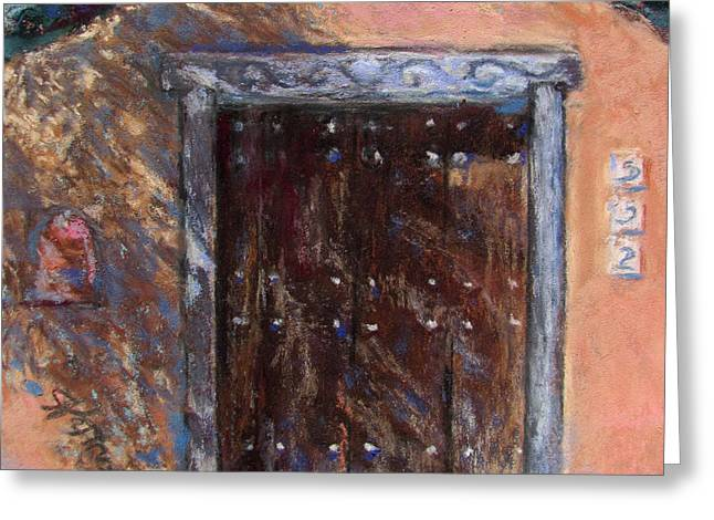 Gate Pastels Greeting Cards - Santa Fe Shadows Greeting Card by Julia Patterson