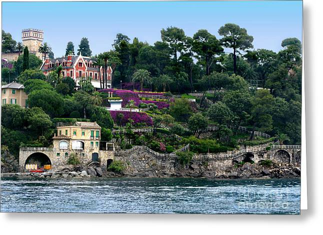 Color_image Greeting Cards - Santa Margherita Ligure.Italy Greeting Card by Jennie Breeze