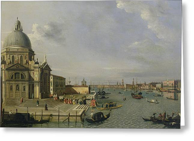 Processions Greeting Cards - Santa Maria della Salute - Venice  Greeting Card by William James