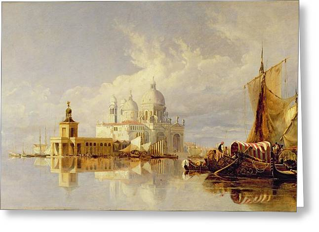 Trader Greeting Cards - Santa Maria della Salute Greeting Card by William James Muller