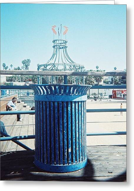 Lola Connelly Greeting Cards - Santa Monica Pier Greeting Card by Lola Connelly