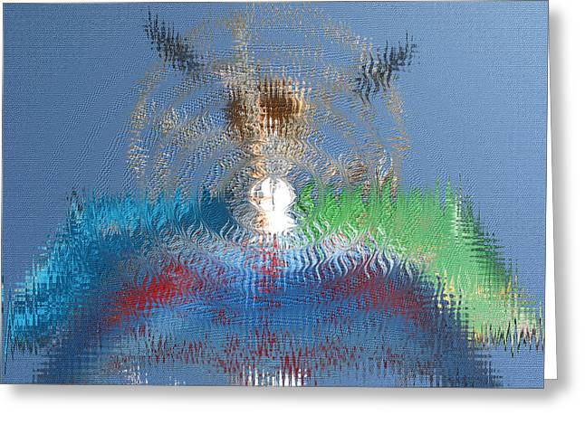 Art By Carl Deaville Greeting Cards - Santa  Monica  Wave Greeting Card by Carl Deaville