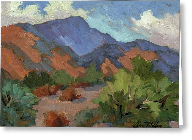 Desert Lake Paintings Greeting Cards - Santa Rosa Mountains Greeting Card by Diane McClary