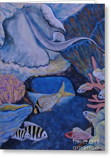 Diving Pastels Greeting Cards - Santa Rosa Wall Greeting Card by Barbara Petersen