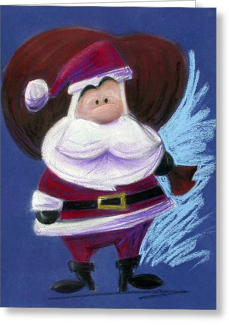Santa Claus Greeting Cards - Santa with His Pack Greeting Card by Andrew Fling