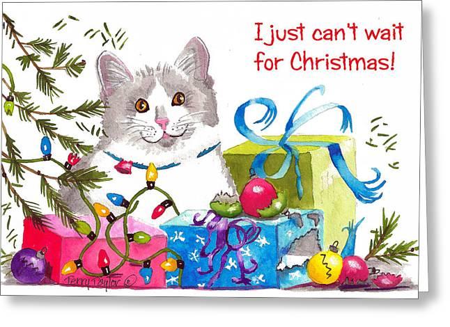 Santa's Helper Greetings Greeting Card by Terry Taylor