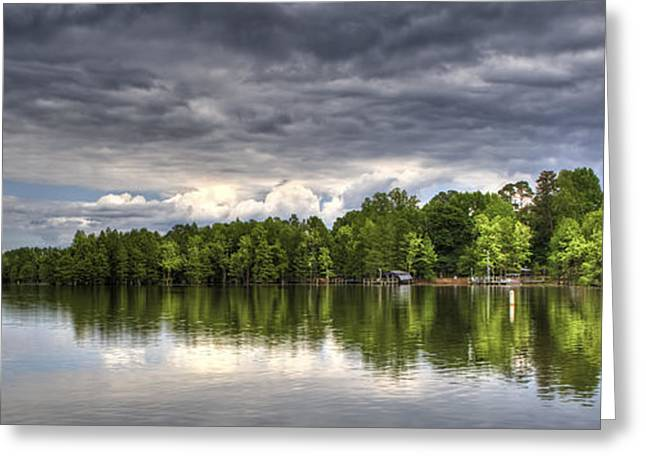 Donny Greeting Cards - Santee - Panoramic Greeting Card by Donni Mac