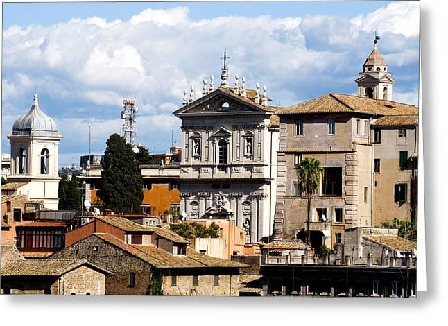 Santo Greeting Cards - Santi domenico e Sisto Greeting Card by Fabrizio Troiani