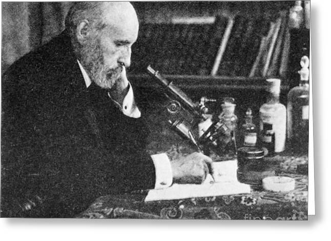 Nobel Winner Greeting Cards - Santiago Ramón Y Cajal, Spanish Greeting Card by Science Source