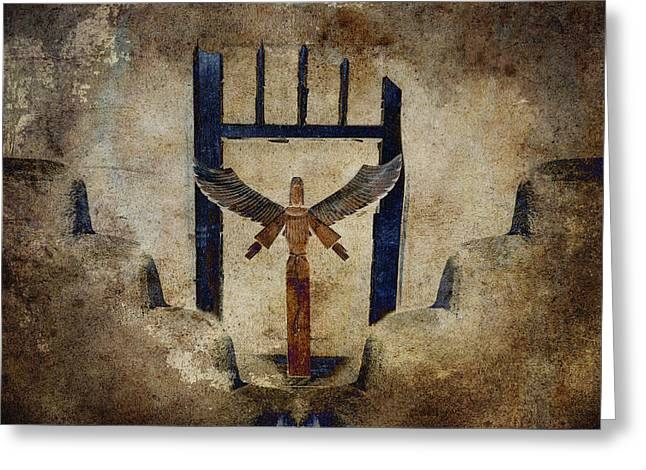 Rectangles Greeting Cards - Santo Greeting Card by Carol Leigh