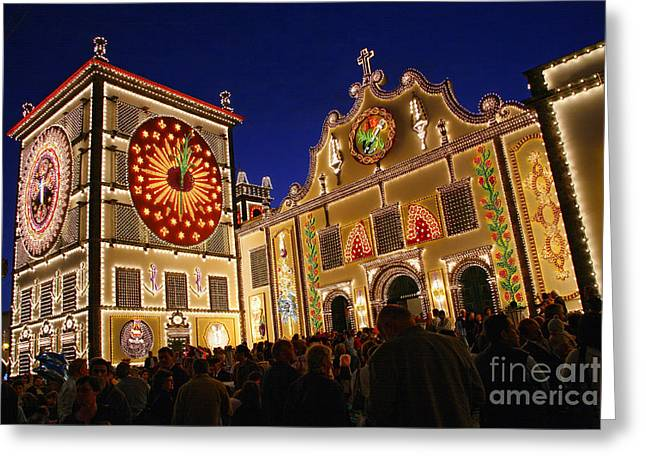 Festivities Greeting Cards - Santo Cristo festivities Greeting Card by Gaspar Avila