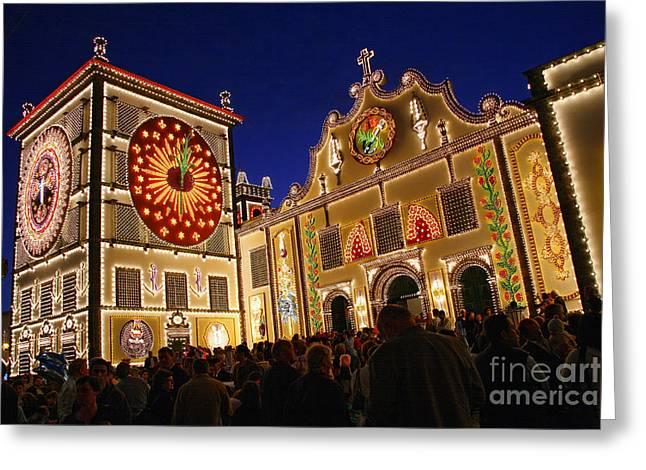 Azores Greeting Cards - Santo Cristo festivities Greeting Card by Gaspar Avila