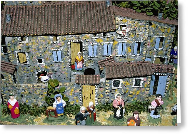 Manufacturing Greeting Cards - Santons. Provence Greeting Card by Bernard Jaubert