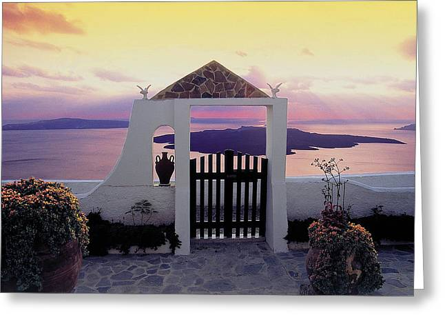 Thirasia Greeting Cards - Santorini 010 Greeting Card by Manolis Tsantakis