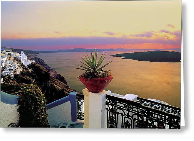 Thirasia Greeting Cards - Santorini 012 Greeting Card by Manolis Tsantakis