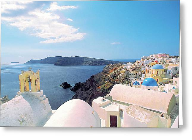 Thirasia Greeting Cards - Santorini 013 Greeting Card by Manolis Tsantakis