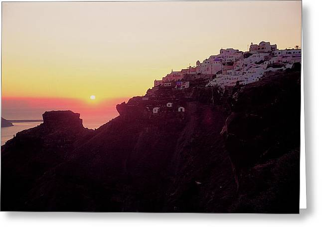 Thirasia Greeting Cards - Santorini 017 Greeting Card by Manolis Tsantakis