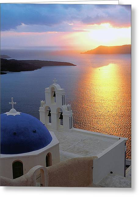 Thirasia Greeting Cards - Santorini 03 Greeting Card by Manolis Tsantakis