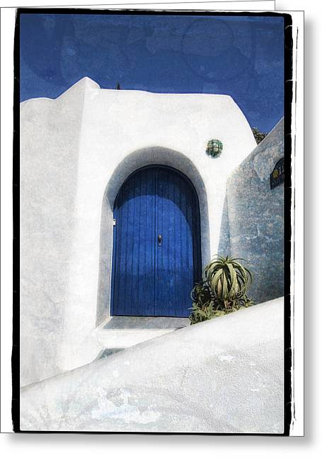 Abstract Digital Pyrography Greeting Cards - Santorini 1 Greeting Card by Mauro Celotti