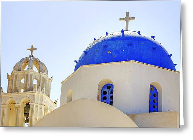 Greece Photographs Greeting Cards - Santorini Greeting Card by Joana Kruse