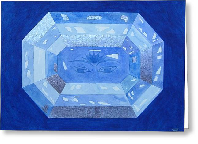 Indigo Chakra Greeting Cards - Sapphire Brow Chakra Greeting Card by Jennifer Baird