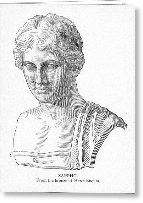 7th Century Greeting Cards - SAPPHO (fl. c600 B.C.) Greeting Card by Granger