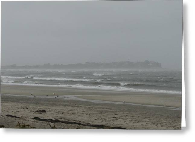 Best Sellers -  - Storm Clouds Cape Cod Greeting Cards - Saquish Storm Greeting Card by Brian Mazzoli